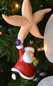 Santa with Starfish Ornament