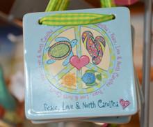 Peace, Love & North Carolina Ornament