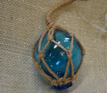 Small Aqua Glass Float Ornament