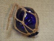 Small Blue Glass Float Ornament