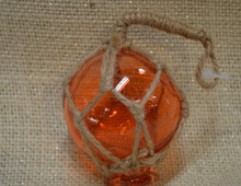Small Orange Glass Float Ornament