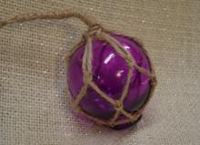 Small Purple Glass Float Ornament