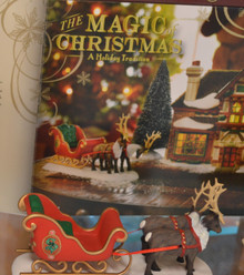 Santa Sleigh & Reindeer Accessory Dicken's Village Magic of Christmas