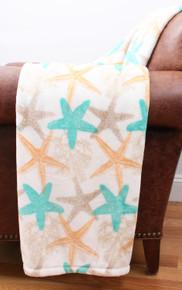 Starfish Velvet Plush Throw Blanket