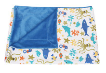 Baby Throw Blanket Sea Life