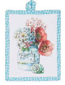 Beach House Floral Potholder