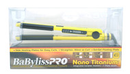 BaByliss PRO Nano Titanium Yellow U Styler Limited Edition Flat & Curling Iron