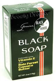 Black and White Botanical Face & Black Soap
