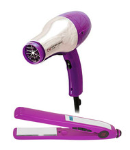 "CHI Deep Brilliance Low EMF Hair Blow Dryer & Titanium 1"" Flat Iron Combo"