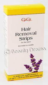GiGi Hair Removing Strips for the face Lavender & Vanilla