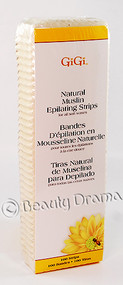 GiGi Natural Muslin Epilating Strips for all soft waxes 100 strips Large