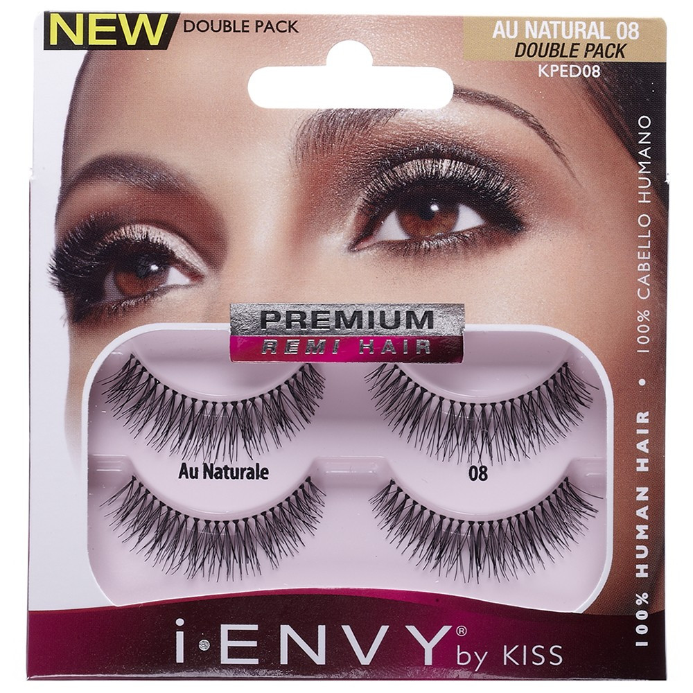 Kiss I Envy Double Pack 100 Human Hair Eyelashes Au Natural 08 Kped08