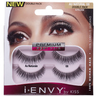 Kiss i ENVY Double Pack 100% Human Hair Eyelashes Au Natural, KPED08