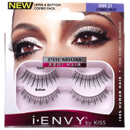 Kiss i ENVY Combo Pack 100% Human Hair Eyelashes Diva 21, KPES21