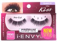 Kiss i ENVY 100% Human Pre Cut Eyelash Quattro 01, KPE62