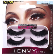 Kiss i ENVY Double Pack 100% Human Hair Eyelashes Juicy Volume 14, KPED14
