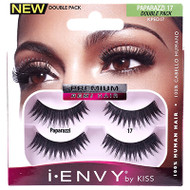 Kiss i ENVY Double Pack 100% Human Hair Eyelashes Juicy Volume 17, KPED17