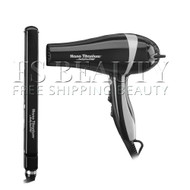 "BaByliss Pro BABNTBKPP15 Nano Titanium 1"" Ultra-Thin flat Iron AND Black Dryer Combo"