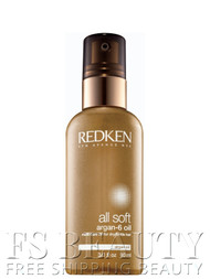 REDKEN All Soft Argan-6 Multi-Care Oil For Dry Brittle Hair 3 oz