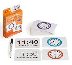 Flash Cards Time Write and Wipe