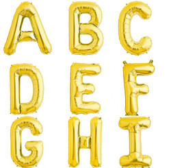 "34"" U.S.A. Alphabet (Gold / Silver / Red)"