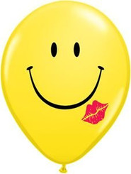 "12"" Smiley Kiss Latex Balloon"