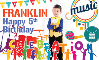 Music Birthday Banner