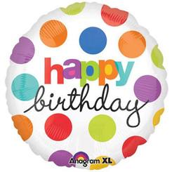 """18"""" Polka Dots Birthday Balloon"""