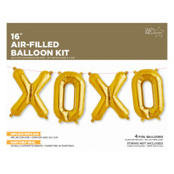 "16"" XOXO Kit Gold (Air Filled CANT FLY)"