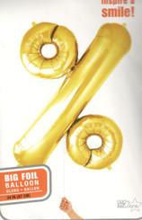 Percent - Gold - Helium 34 in