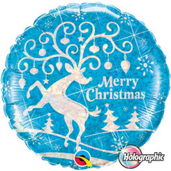 "18"" Blue Holographic Xmas"