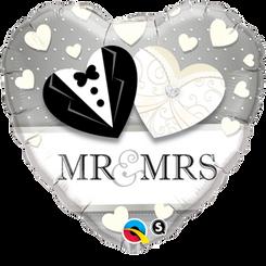 "18"" Mr. & Mrs. Wedding Heart"