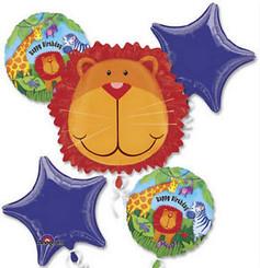 Jungle Animal Happy Birthday (Set of 5)