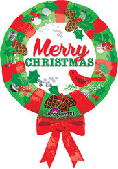 "28"" Christmas Wreath Balloon"
