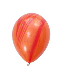 "11"" Red/Orange Marble Latex Balloon"
