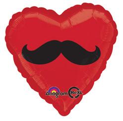 "18"" Mustache Heart"