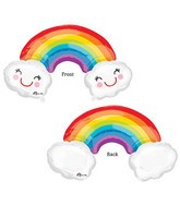 """37"""" Rainbow With Clouds"""