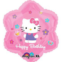 "18"" Hello Kitty Flowers & Butterflies Birthday"