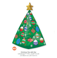 3D Christmas tree with star