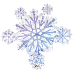 "32"" Supershape Snowflake Foil Balloon"
