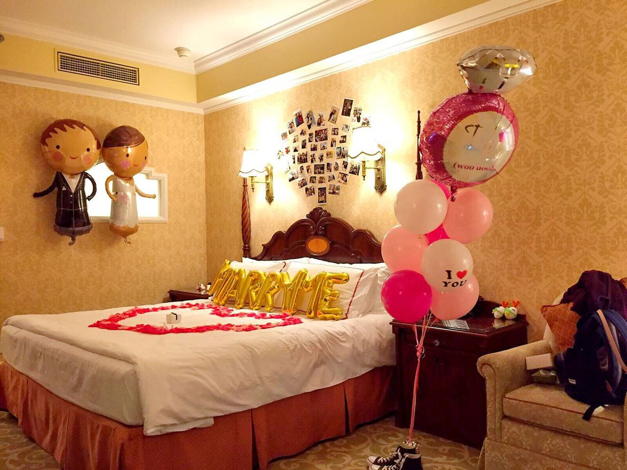 Proposal surprise hong kong disneyland hotel ball ba for Hotel decor items