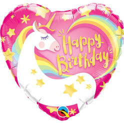"18"" Magical Unicorn Birthday Heart"