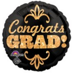"""18"""" Congrats Grad Glitter"""