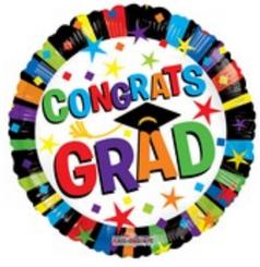 """18"""" Congrats Grad Stars & Lines"""