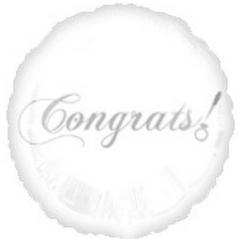 """18"""" White Congrats!"""