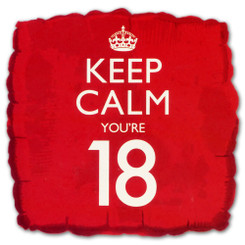 18'' Keep Calm You're 18