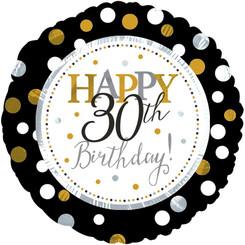 "18"" Happy 30th Birthday"