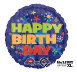 "18"" Bold Birthday"