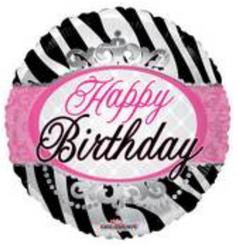 """18"""" Birthday Zebra Print"""