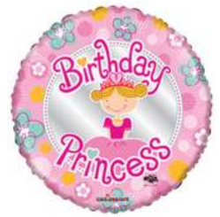 "18"" Birthday Princess Little Girl"